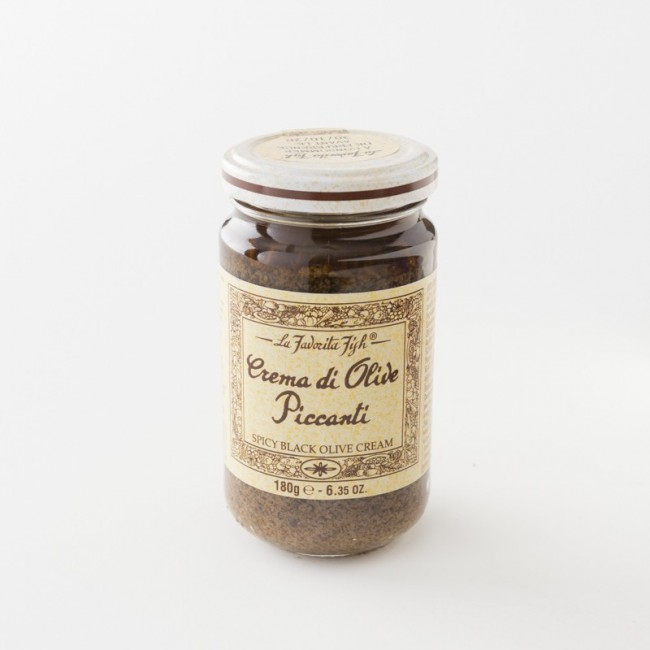 tapenade olives noires piquantes pot 130 g de chez La Favorita