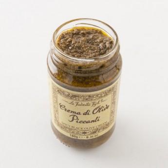 Tapenade d'olive noires piquantes 130g