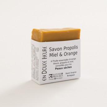 Bloc de savon propolis mile orange bio