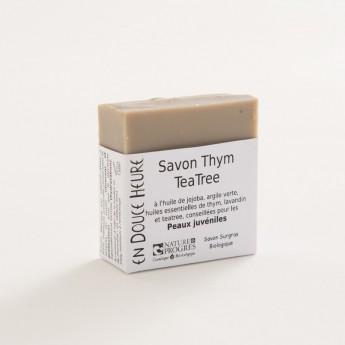 bloc de savon thym tea tree