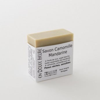 bloc de savon camomille mandarine