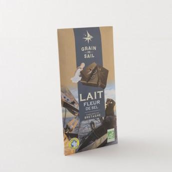 tablette chocolat lait bio fleur de sel