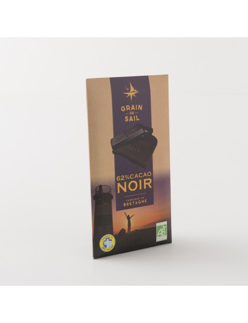 tablette de chocolat noir bio 62% 100g