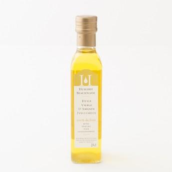 bouteille 25cl huile d'amande huilerie beaujolaise