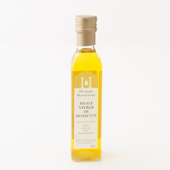 bouteille d'huile de noisette 25cl huilerie beaujolaise