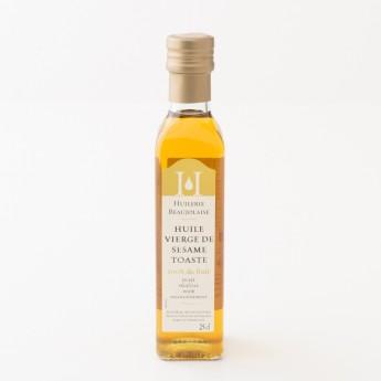 bouteille d'huile de sésame 25cl huilerie beaujolaise