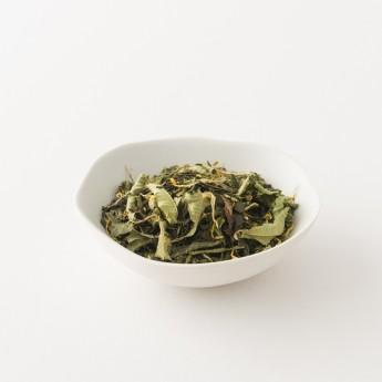 Intérieur d'un paquet de thé à la mandarine