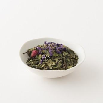 détail du thé à la framboise et à la violette alveus