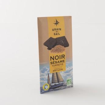 tablette de chocolat noir au sesame grain de sail bio