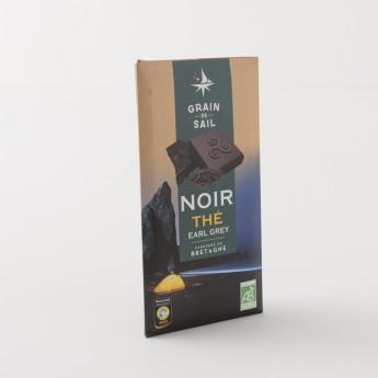 tablette de chocolat noir au thé earl grey