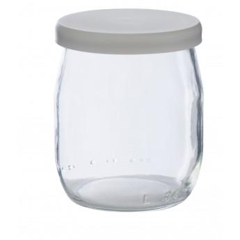 Pot de yaourt en verre