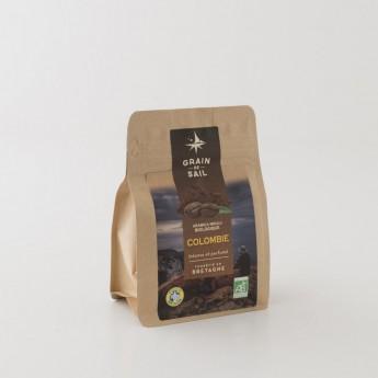 paquet de café colombie moulu 250g grain de sail