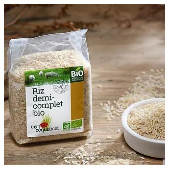 riz demi-complet bio IGP de Camargue détail du paquet de 500 g