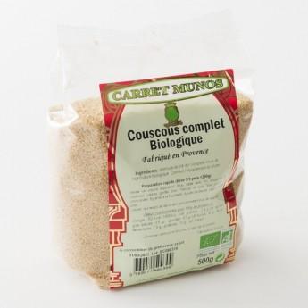 couscous biologique complet Carret Munos en paquet de 500 g