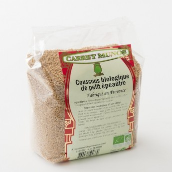 couscous biologique de petit épeautre Carret Munos en paquet de 500 g