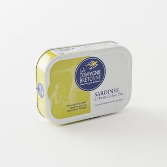 boite de sardines à l'huile d'olive bio 115g de la Compagnie Bretonne