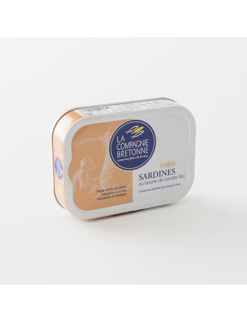 sardines au beurre de baratte bio de la Compagnie Bretonne