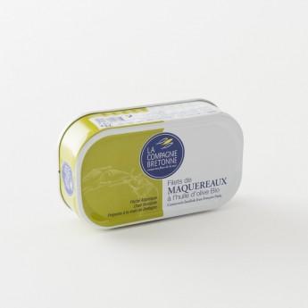 filets de maquereaux à l'huile d'olive bio de La Compagnie Bretonne