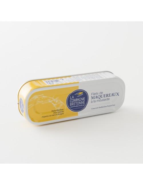 Boite de filets de maquereaux à la moutarde de la Compagnie Bretonne