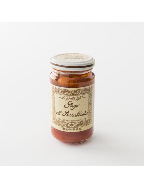 sauce tomate artisanale à l'arrabbiata pot 180 g de chez La Favorita