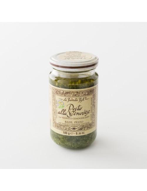 Pesto genovese au basilic AOP pot 180 g par La Favorita