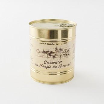 cassoulet au confit de canard 840 g de chez Escudier