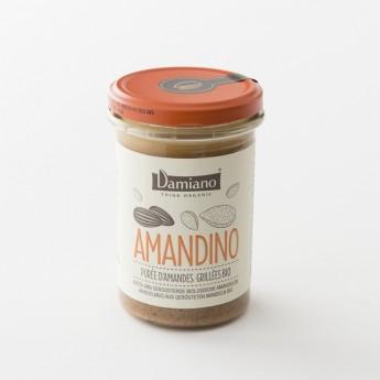 purée d'amandes grillées bio de chez Damiano en pot de 275 g