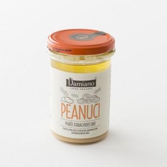 purée d'arachides grillées bio Peanuci chez Damiano en pot de 275 g