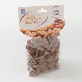 amandes grillées salées paquet de 200 g de chez Amandes et Olives du Mont