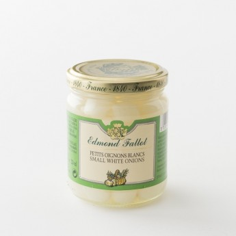 oignons blancs en pot de 120 g de la maison Fallot