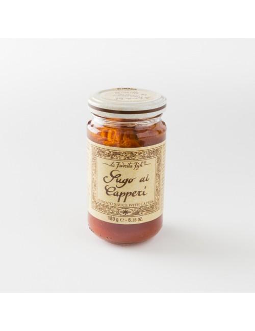 sauce tomate artisanale aux câpres pot 180 g de chez la Favorita