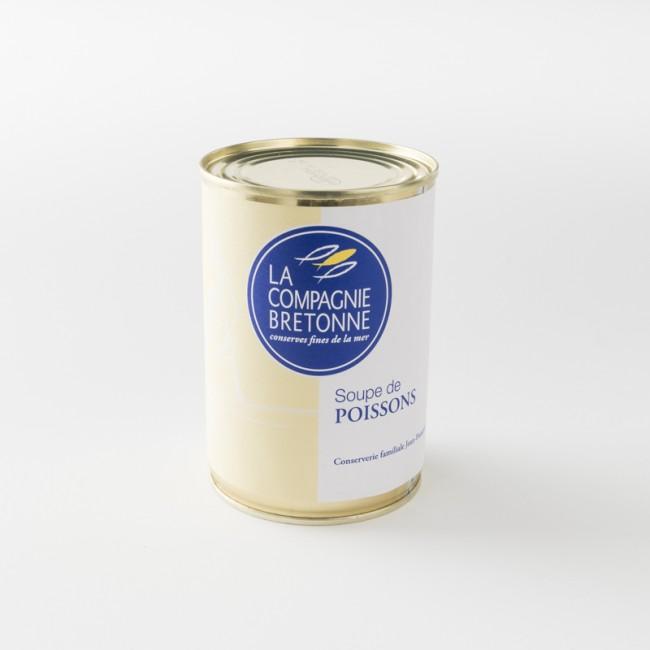 soupe de poisson traditionnelle en boite de 404 g par la Compagnie Bretonne