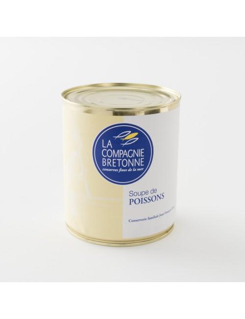 soupe de poisson traditionnelle en boite de 808 g par la Compagnie Bretonne