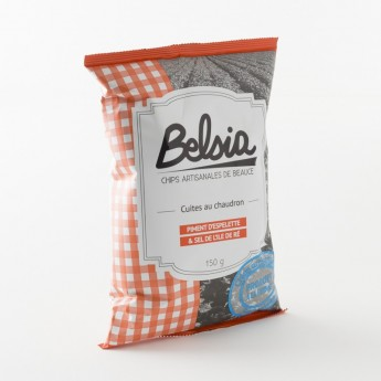 chips artisanales au piment d'Espelette 100% fabriquées en Beauce par Belsia