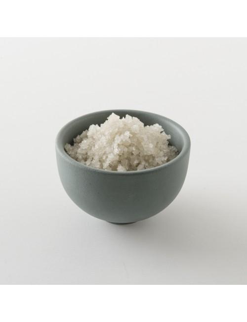 Intérieur d'un paquet de sel de guérande.