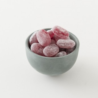 Détail des bonbons bio à la cerise.