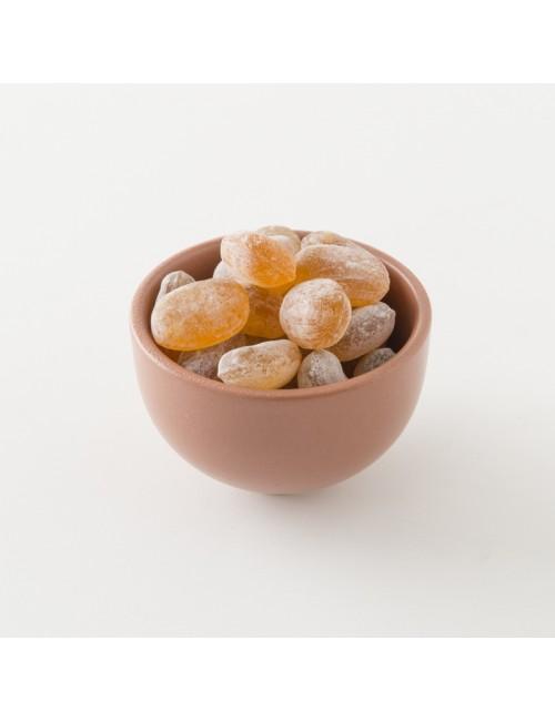 Détail des bonbons bio à au miel de montagne.