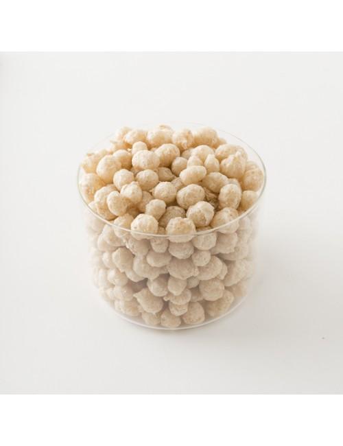 Intérieur d'un paquet de flocons de riz bio