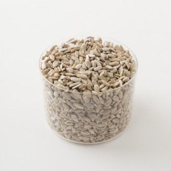 Intérieur d'un paquet de graines de tournesol bio.