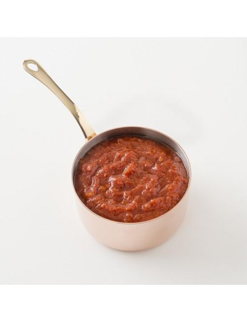 Détail de la sauce tomate au piment