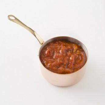 Détail de la sauce tomate aux champignons