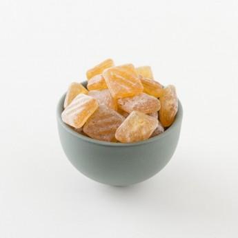 Détail des bonbons à la bergamote