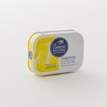 Boite de sardine bio au citron