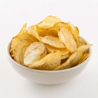Intérieur d'un paquet de chips oignon Belsia